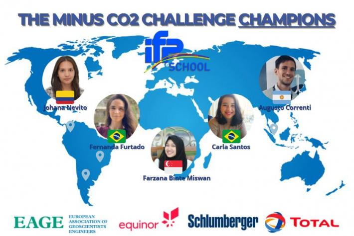 IFP School world champion of the Minus CO2 Student Challenge