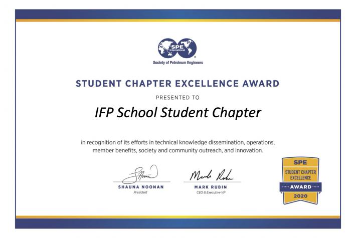 SPE Student Chapter Excellence Award 2020
