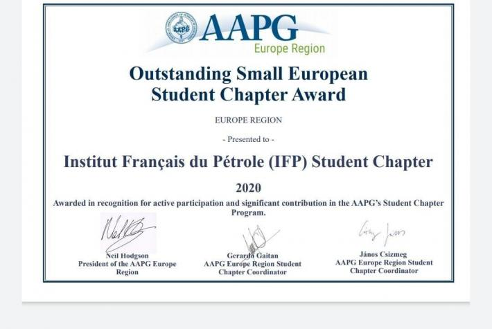 AAPG Outstanding Small European Student Chapter Award