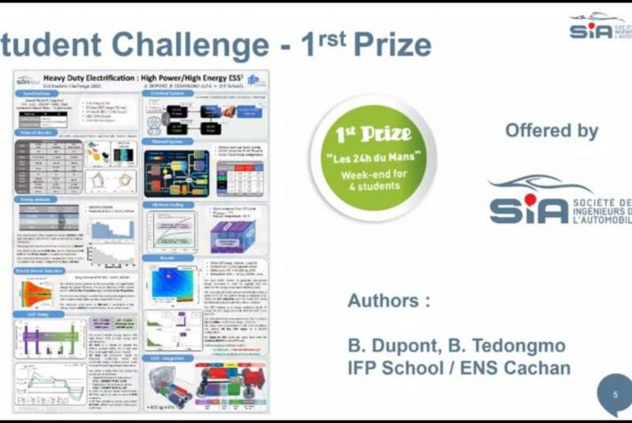 First prize of SIA's Student Challenge awarded to IFP School