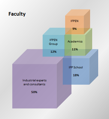 Backgrounds of the faculty (based on the number of hours of teaching)